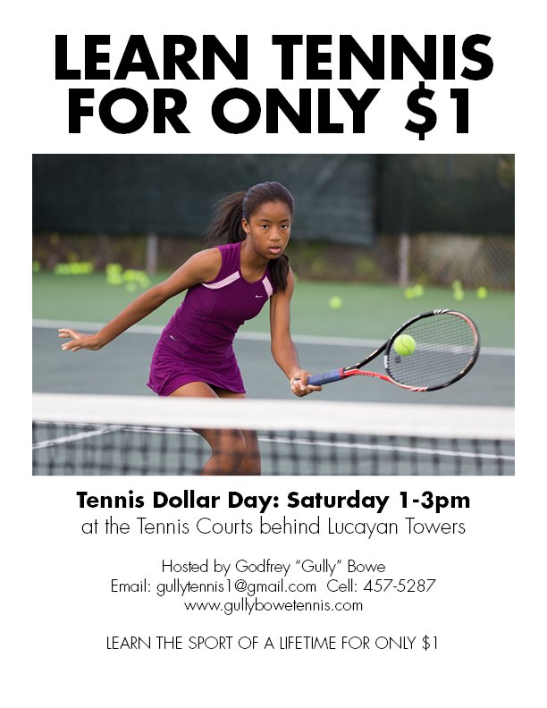 tennis dollar day