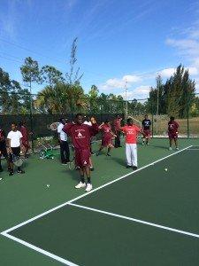 Ymca School Tennis Program  March, 2015