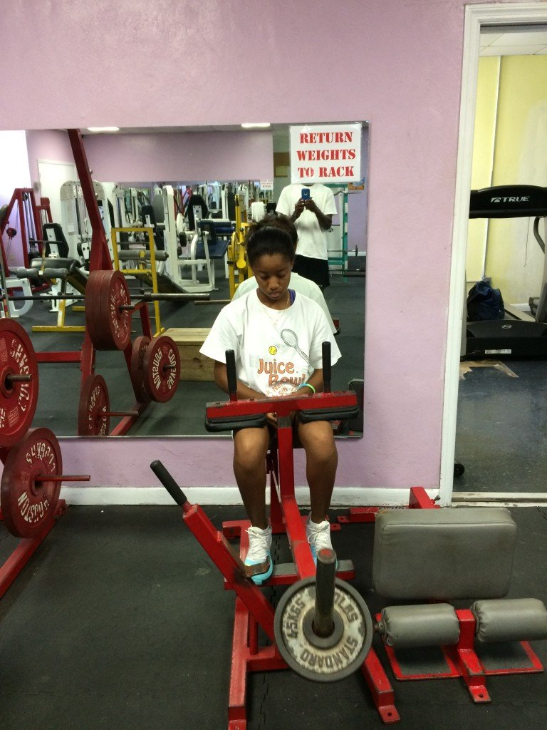 Gaby at the gym 001