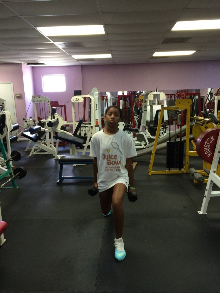 Gaby at the gym 005