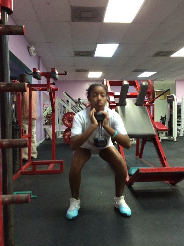 Gaby at the gym 003